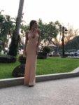 Мегз дълга впита рокля